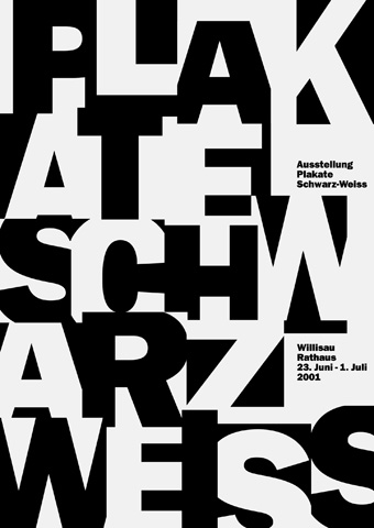 2001-Plakate-Schwarz-Weiss