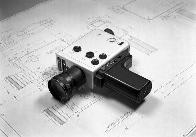 L+M-18: Braun Filmkamera »Nizo 561« von 1974 auf der Konstruktionszeichnung, Design: Robert Oberheim, Archiv Braun GmbH