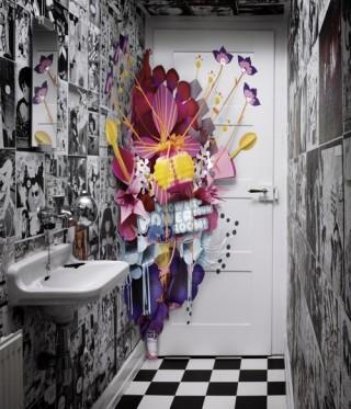 Supersize Popup. Für Sara Lee Deutschland baute Jung von Matt ein Popup in Übergröße, das hinter den Türen öffentlicher Toiletten zum Einsatz kam.