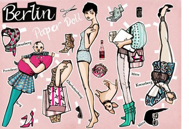 Berlin Paper Doll | Berlin Postkarte 2Agenten, 2009