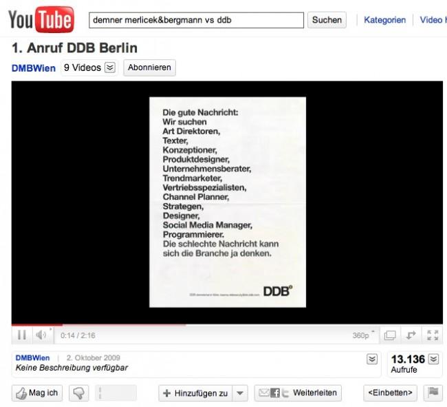 »Social Media«: Silber - DM&B vs. DDB von Demner Merlicek & Bergmann