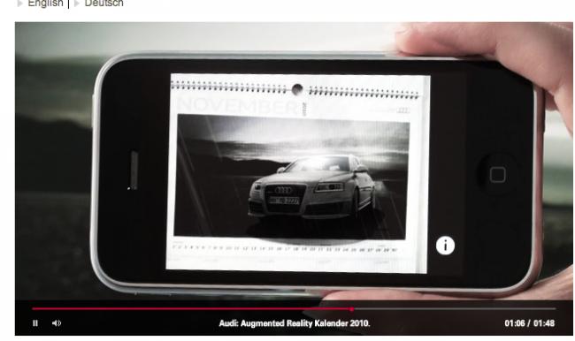 »Mobile«: Silber - Audi Augmented Reality Calendar von Neue Digitale (Kunde: Audi)