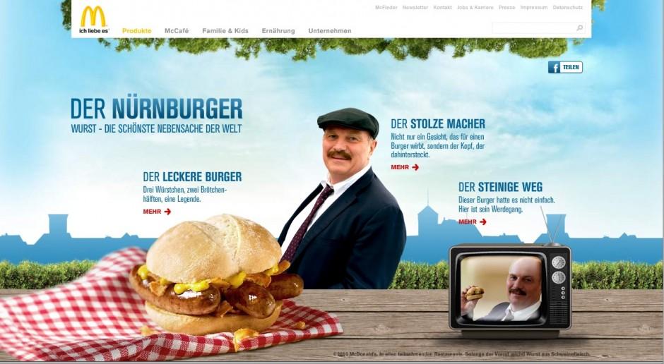 »Integrierte Kampagne«: Bronze - Nürnburger von Neue Digitale/Razorfish (Kunde: McDonald's)