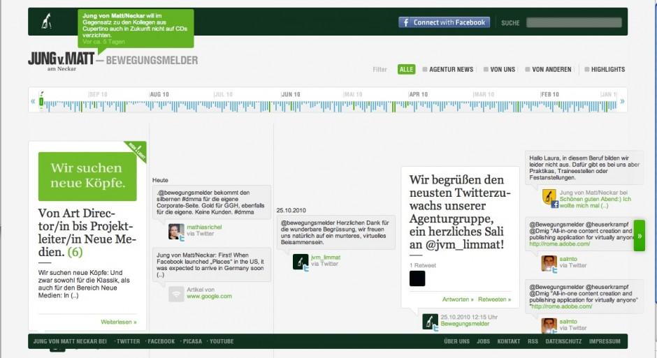 »Corporate Websites«: Bronze - Jung von Matt/Neckar Bewegungsmelder