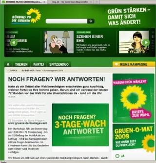 »Integrierte Kampagne«: Silber - 3 Tage wach von ressourcenmangel (Kunde: Bündnis 90/ Die Grünen)