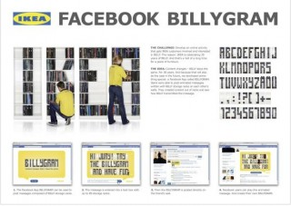 »Social Media«: Bronze - Ikea Billygram von Ogilvy One (Kunde: Ikea)
