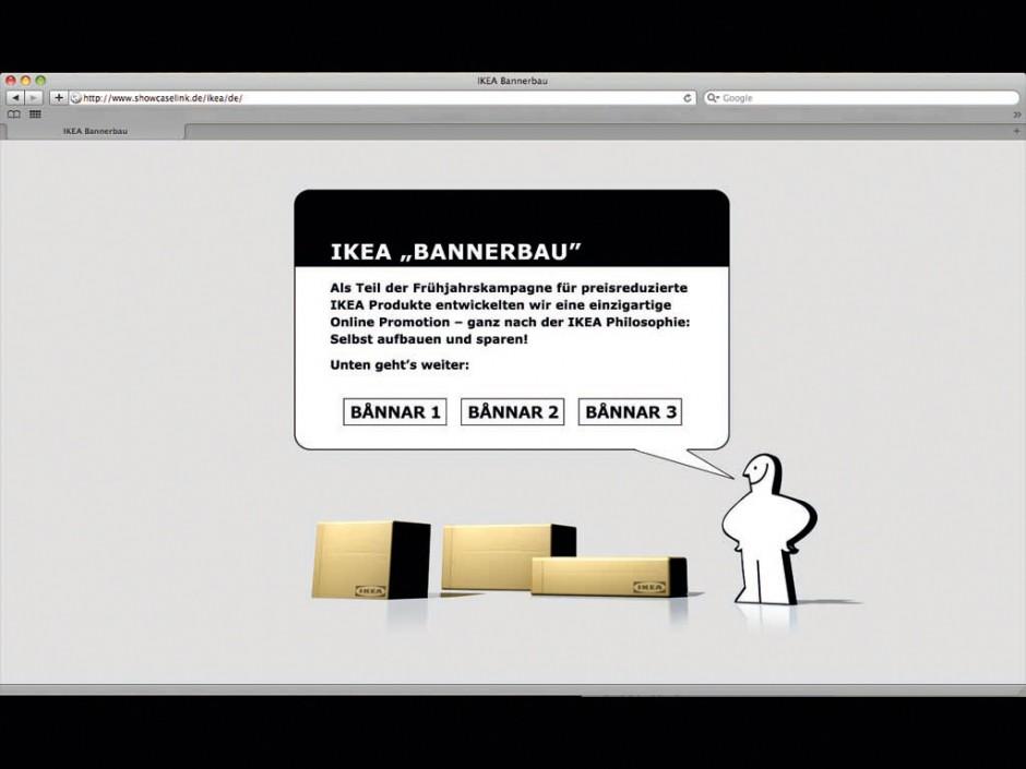 »Banner«: Gold - Ikea Bannerbau von Grabarz & Partner (Kunde: Ikea)