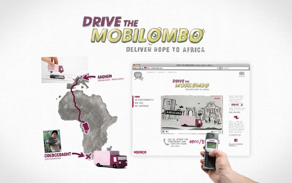 »Microsites«: Silber - Drive the Mobilombo von Kolle Rebbe (Kunde: Misereor)