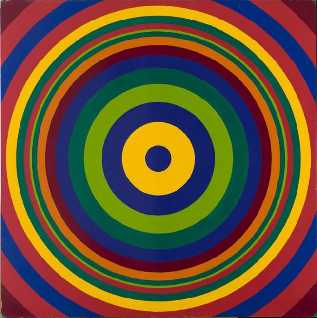 Poul Gernes: Target/Skydeskivebillede, 1967, Enamel paint on masonite, 122 x 122 cm | Vestjællands Kunstmuseum,Sorø. © Poul Gernes Estate. Foto: Anders Sune Berg