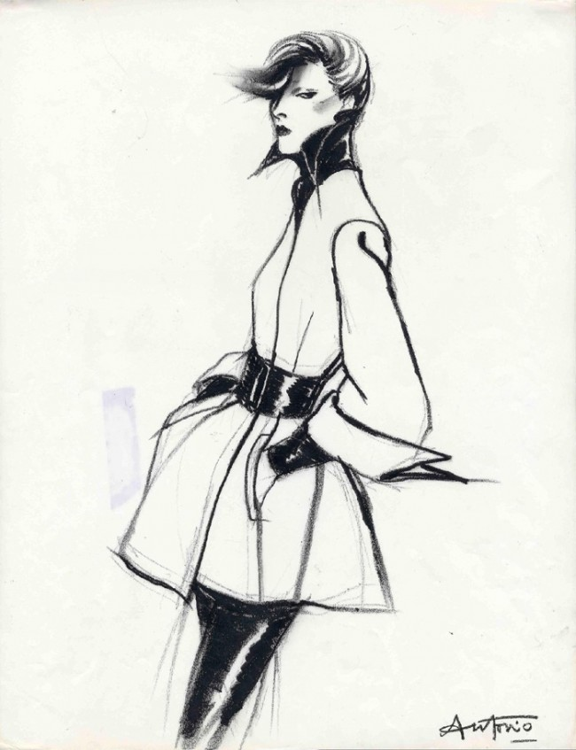 Drawing Fashion | Antonio. Karl Largerfeld, Vogue France.1972