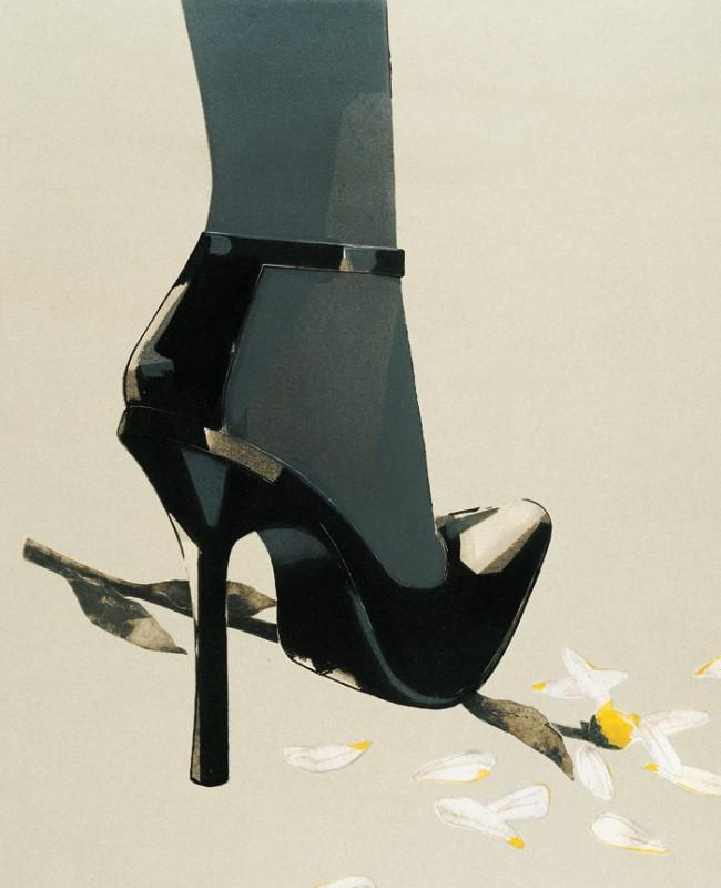 Drawing Fashion | Francois Berthoud, Loves me Loves me Not, Myla UK. 2001