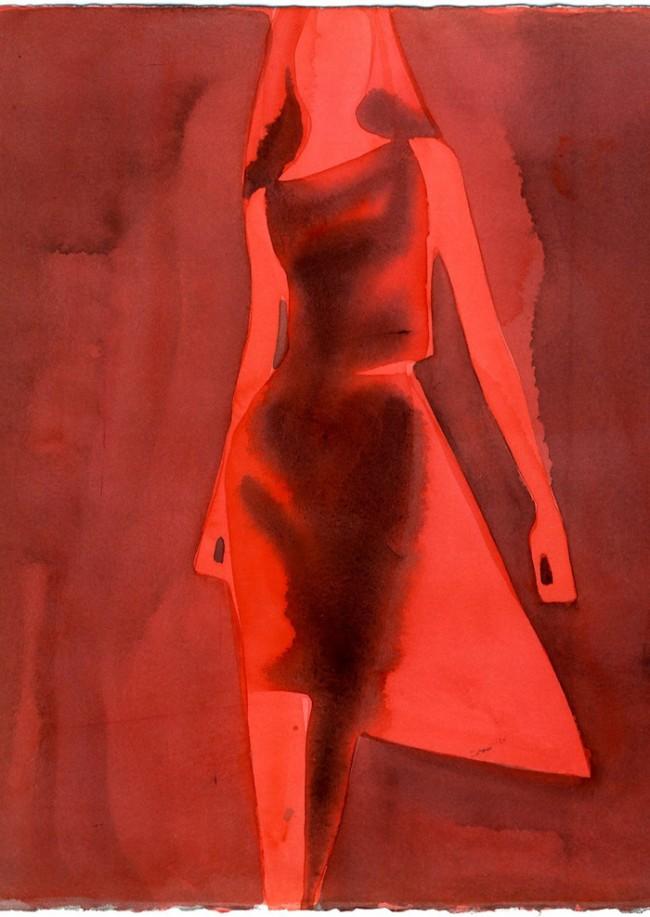 Drawing Fashion | Mats Gustafson. Red Dress, Yohji Yamamoto, 1999