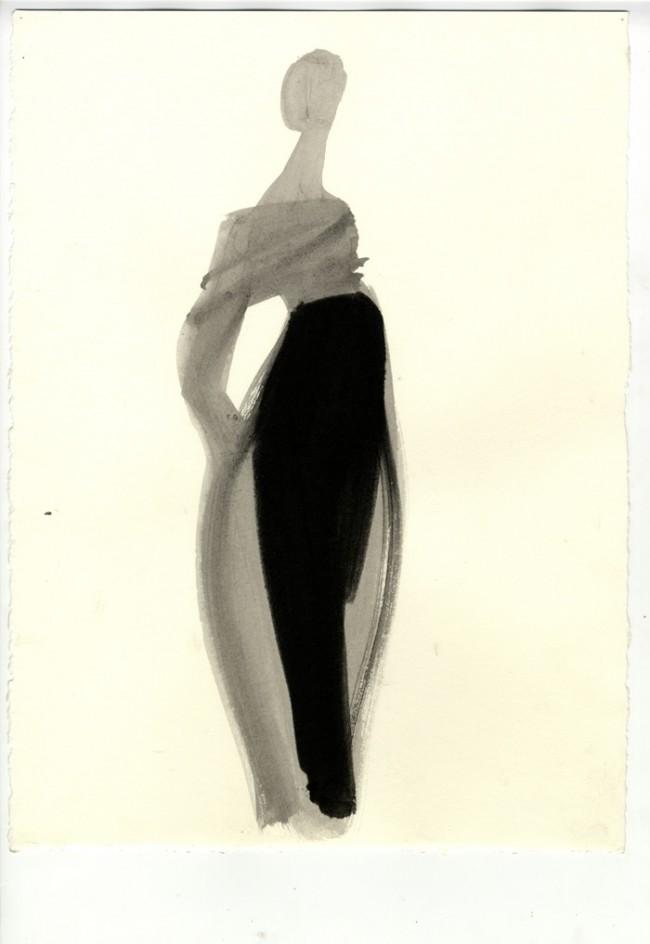Drawing Fashion | Mats Gustafson - Romeo Gigli, Vogue Italia, 1990.