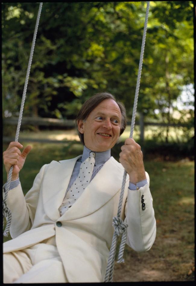 Sein und Schein, Tom Wolfe, Long Island 1988, © Herlinde Koelbel