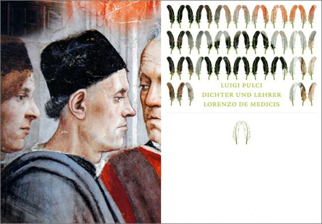 Konzeption und Gestaltung eines Sachbuches zur Brancacci-Kapelle in Florenz | Einleitende Bildseite für das Porträt des Luigi Pulci