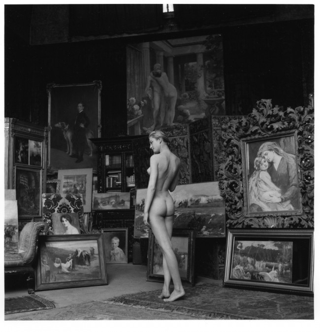 Jeanloup Sieff, Nu pompier, Paris, 1956, Gelatin Silver Print, printed later, Verso stamped and signed by the Estate, 49,5 x 39,5 cm