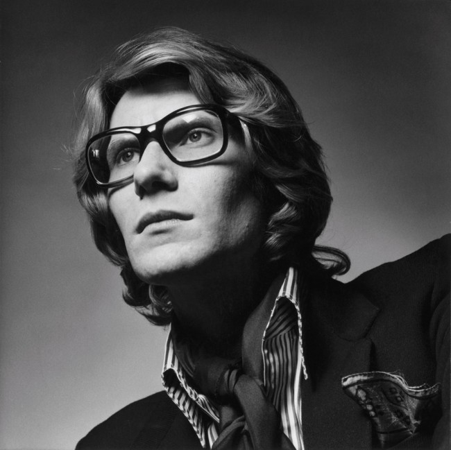 Jeanloup Sieff, Yves Saint Laurent, Paris 1969, Gelatin Silver Print, printed later, Verso stamped and signed by the Estate, 50,5 x 40,5 cm