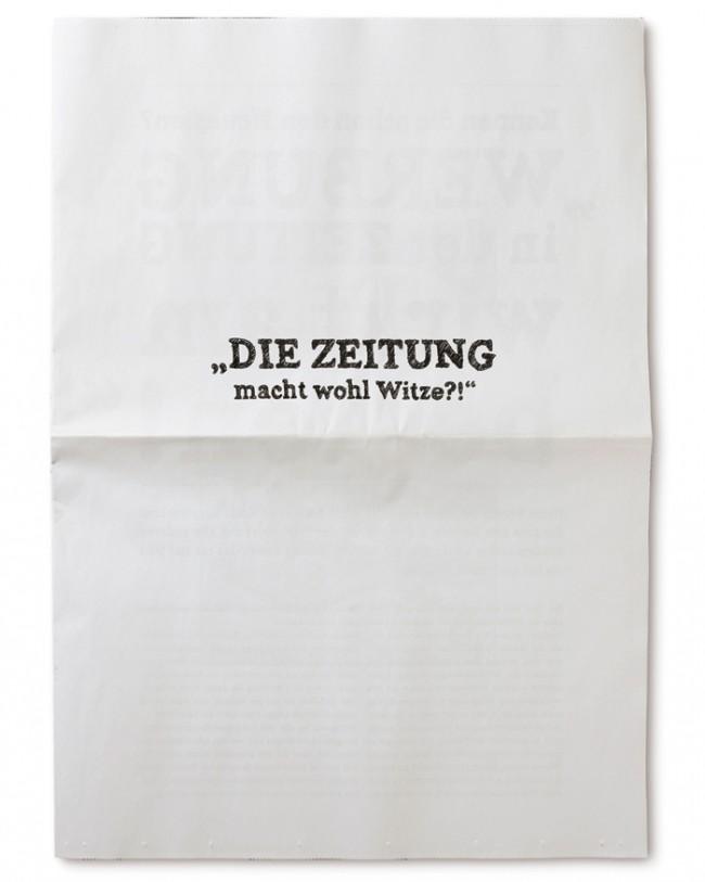 Marketingkommunikation   Projekt: Die Zeitung macht wohl Witze