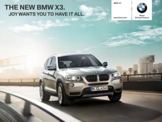 BMW X3-Katalog auf dem iPad