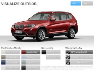 BMW X3-Katalog: Auf dem iPad kann sich der User die Features seines Wunsch-BMWs leicht zusammenstellen und abspeichern