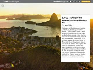 Lufthansa-Magazin auf dem iPad