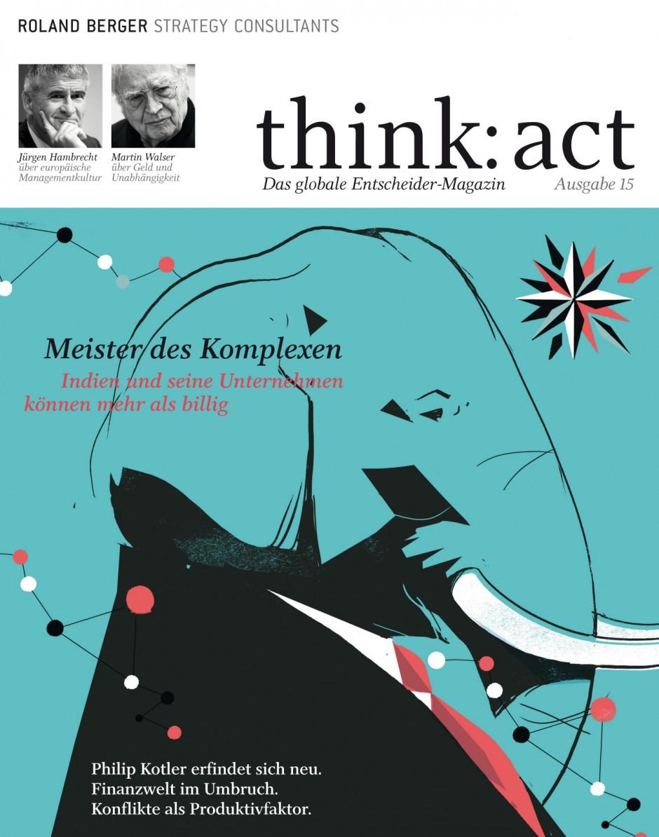 Auf dem Wirtschaftsgipfel in Davos 2010 präsentierte Roland Berger bereits ein iPad-Konzept des Magazins think:act.