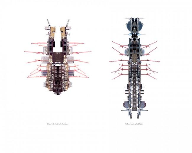 trans-form – großformatiges, selbst-initiertes Magazin von FL@33 über die Schönheit von Kränen, 2001 / Cityscape Insects – Auszug aus FL@33's trans-form Magazin, 2001