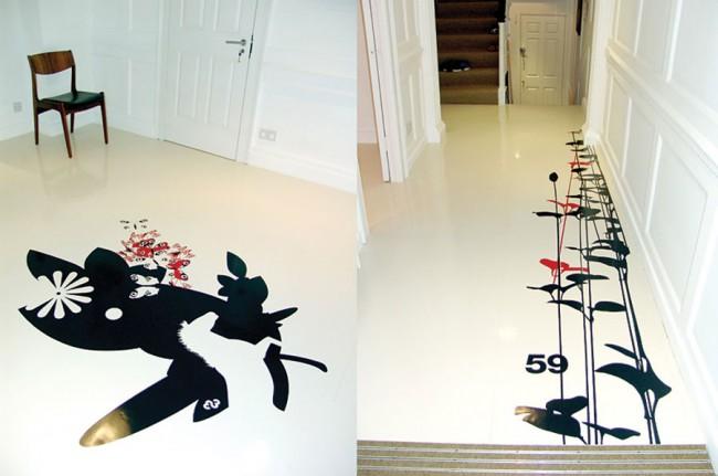 Selbstinitiierte Entasienarbeit, Dalsouple Gummiboden Design für FL@33 HQ, 2007