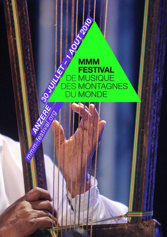 Visuelle Identität und Kampagnenmotive 2010 für das Schweizer MMM Musik Festival