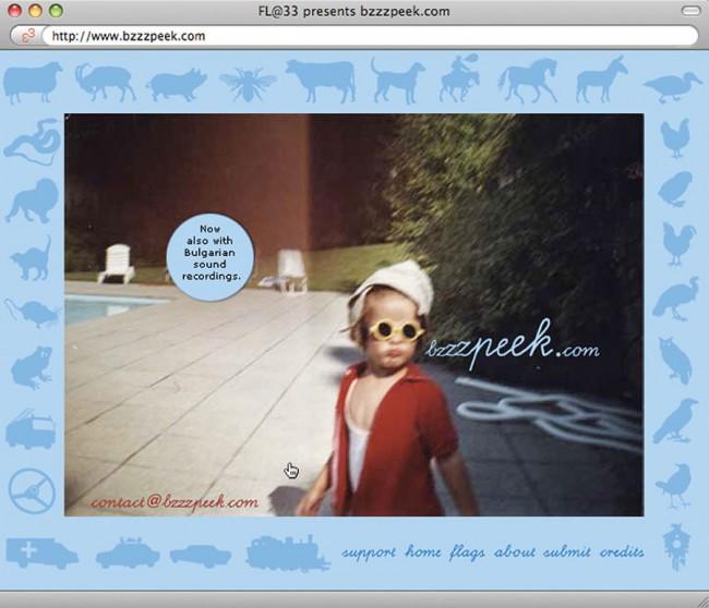 Das weltweit äußerst beliebte FL@33 online Projekt http://bzzzpeek.com – internationale onomatopoeia
