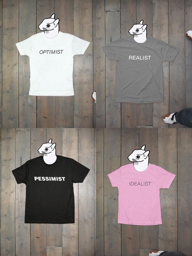 Prototypen einiger der nächsten FL@33-designten Stereohype T-shirts, 2011