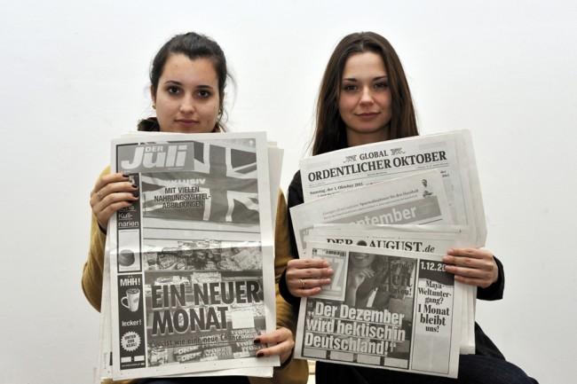 Young Talent 2011 | Zeitungskalender Staatl. Hochschule für Gestaltung, Karlsruhe, © Udo W. Beier