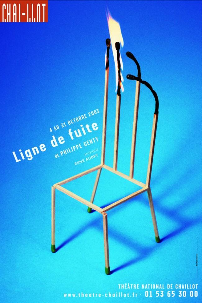 Ligne de fuite, Théâtre de Chaillot, affiche, 2003