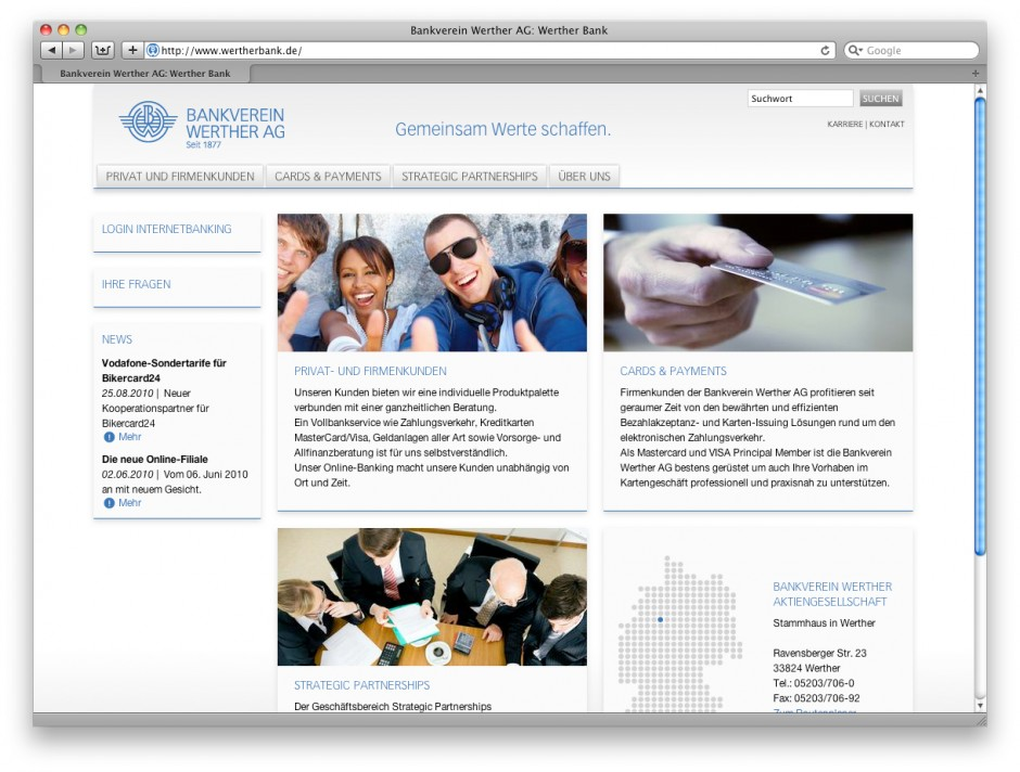Werther Bank Web