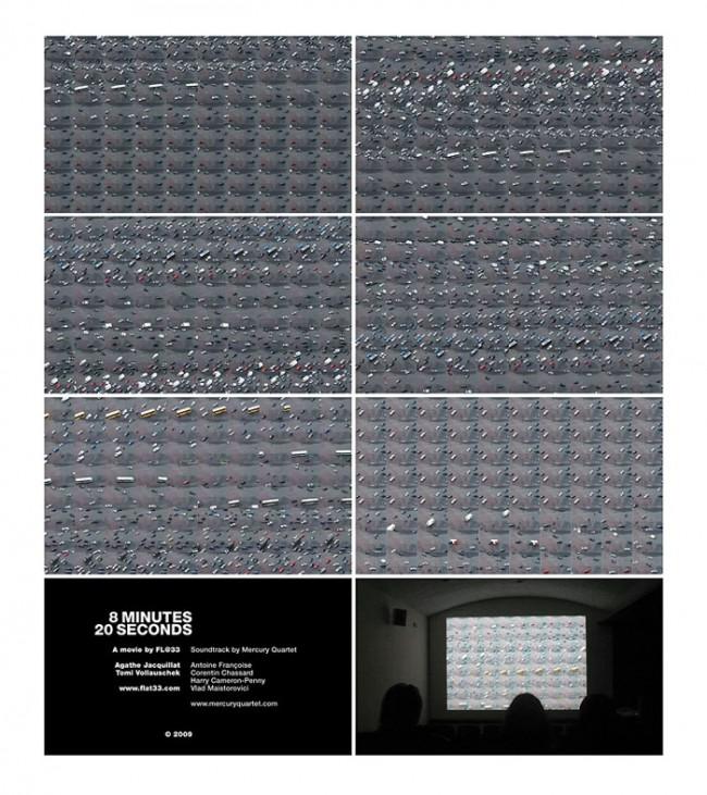 8 Minuten 20 Sekunden, konzeptionelle Videoarbeit, Kino des Londoner Transport Museum, 2009