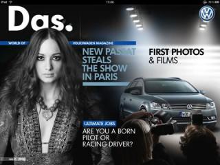 Volkswagen ist mit dem E-Magazin Das. auf dem iPad vertreten.