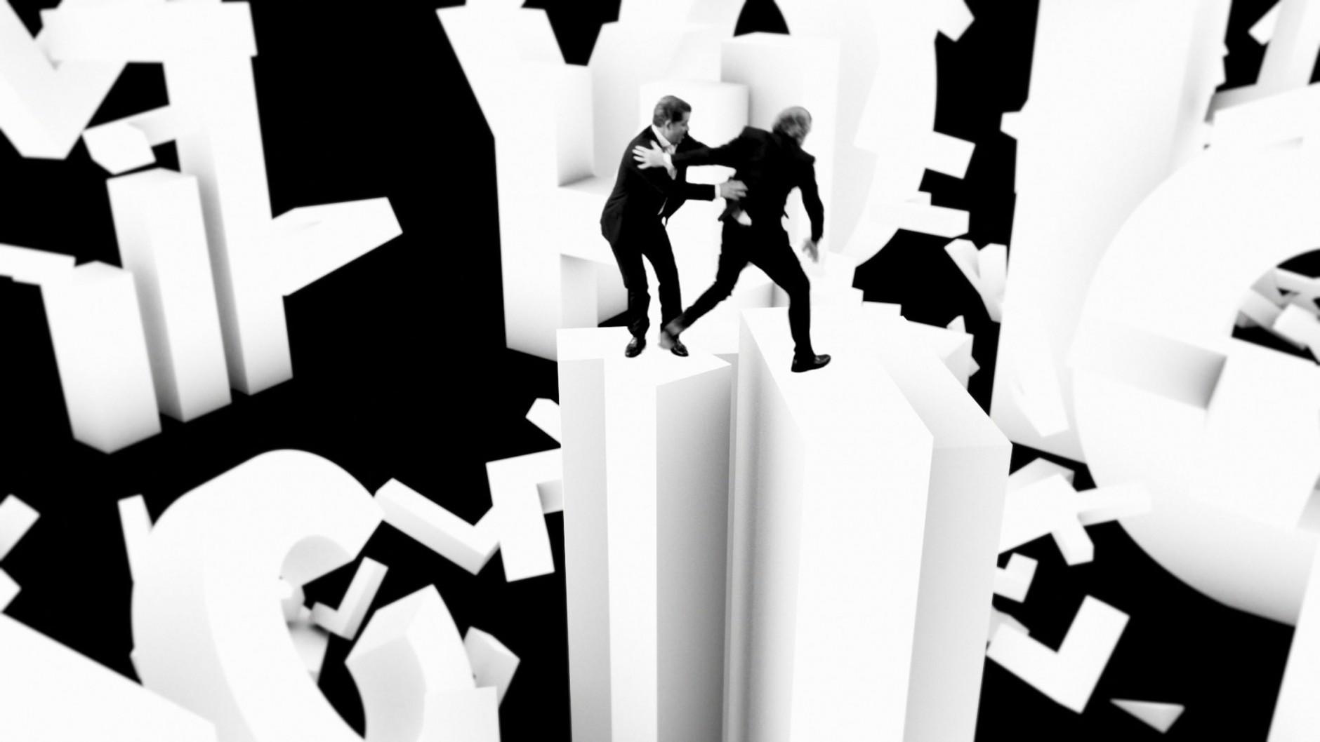 Bewegte Schrift | Kevin Blanc, Tiger Dust, Musikvideo für Yello, 2009 © Yello