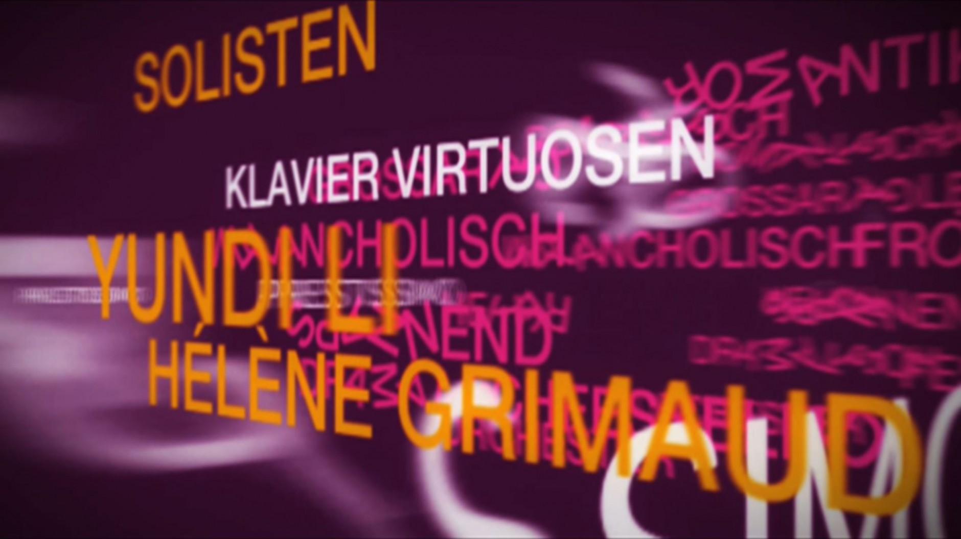 Bewegte Schrift | Jung von Matt/Elbe GmbH / tisch eins, Typofonie, Imagefilm für das Konzerthaus Dortmund / Philharmonie Westfalen, 2006 © bei den Autoren