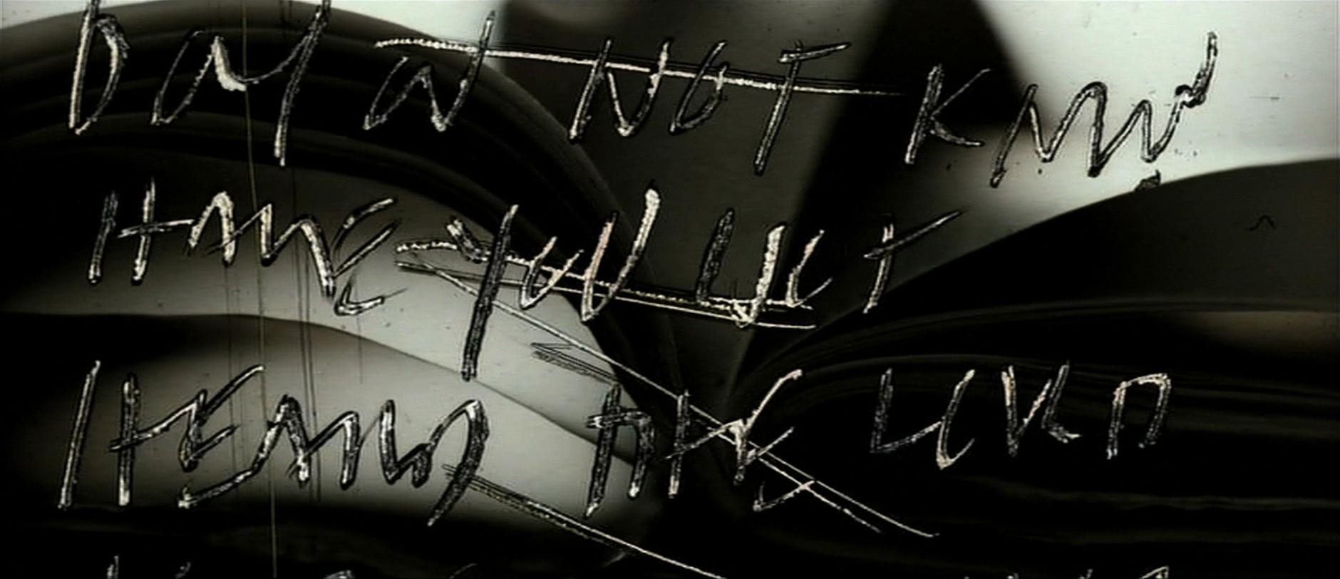 Bewegte Schrift | Kyle Cooper / Imaginary Forces, Se7en, Filmbild aus der Titelsequenz, 1995, © Imaginary Forces