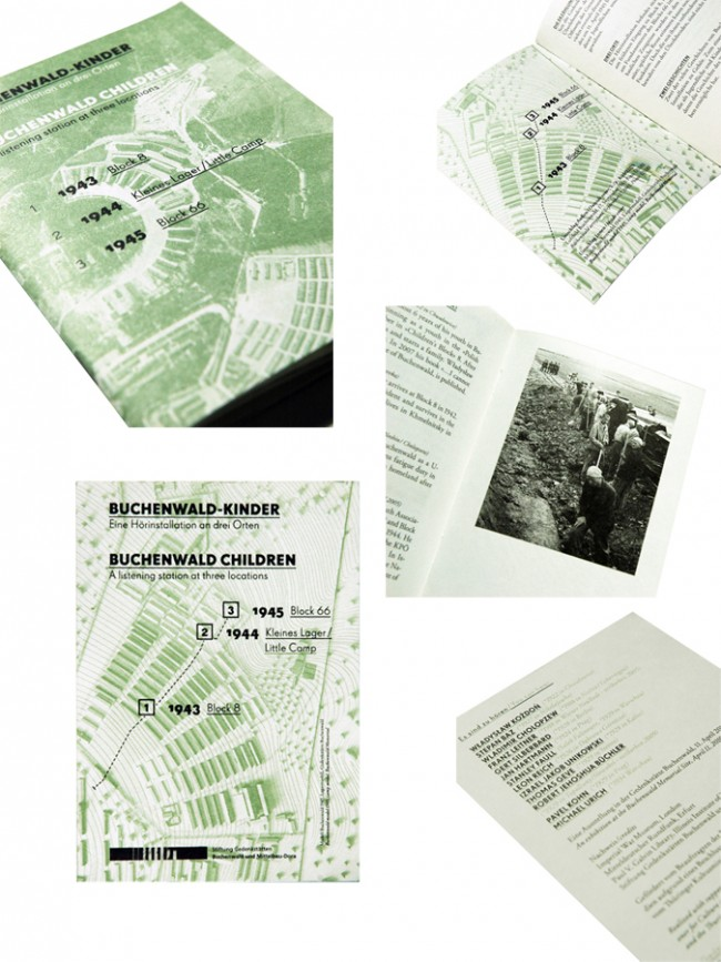 Buchenwald-Kinder    A6 Informationsbroschüre   A6 Postkarte   A2 Plakat