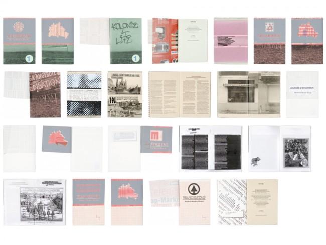 Wandertag   Wandern – Wundern – Werkeln  mit Leo Favier   Kritisch, visuell unkonventionelles Fanzine   Ausgaben 1-6 (von 9) & Arbeitsweise   A 5, Siebdruck, Kopierer, Laser Printer, Hochdruck