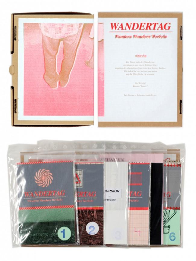 Wandertag Edition mit Leo Favier   Alle 9 Ausgaben   einige grafische Zugaben   in Karton A 5 +   Siebdruck   Auflage: 40 Exx. nummeriert