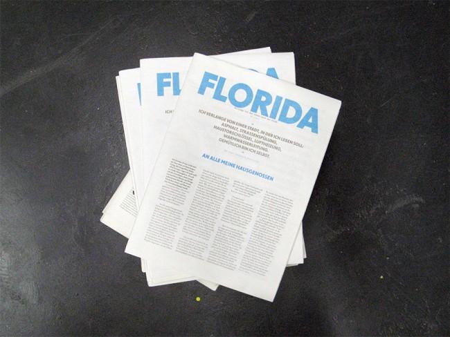 Florida   Beiträge für das Leben nach der Stadt   56 seitige Zeitung   Rollen-Offset   2 farbig   Format: Rheinisches Halbformat   Auflage: 5000 Stück