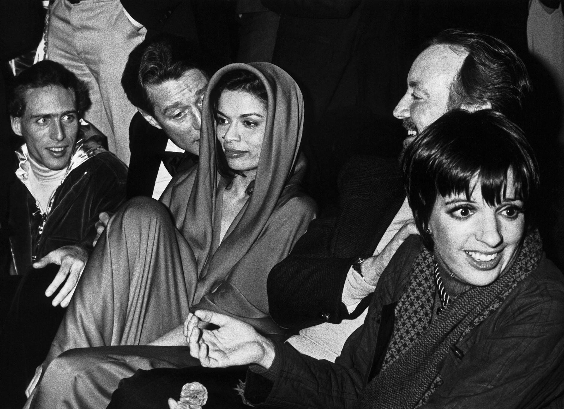 Ron Galella: Halston, Bianca Jagger and Liza Minelli, Studio 54, New York, January 1978. © Ron Galella, Ltd.