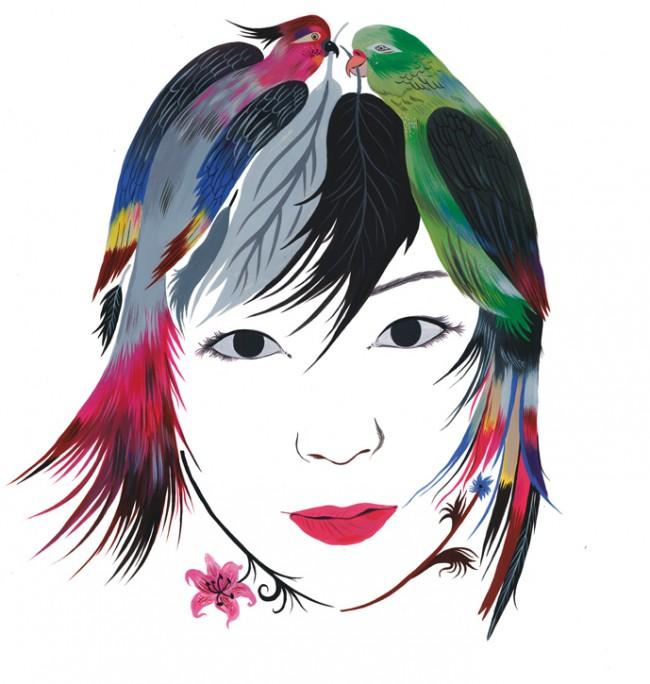 Titelbild der Ausgabe 2/2011 von Caroline Löbbert mit einem Porträt der Musikerin Utada Hikaru