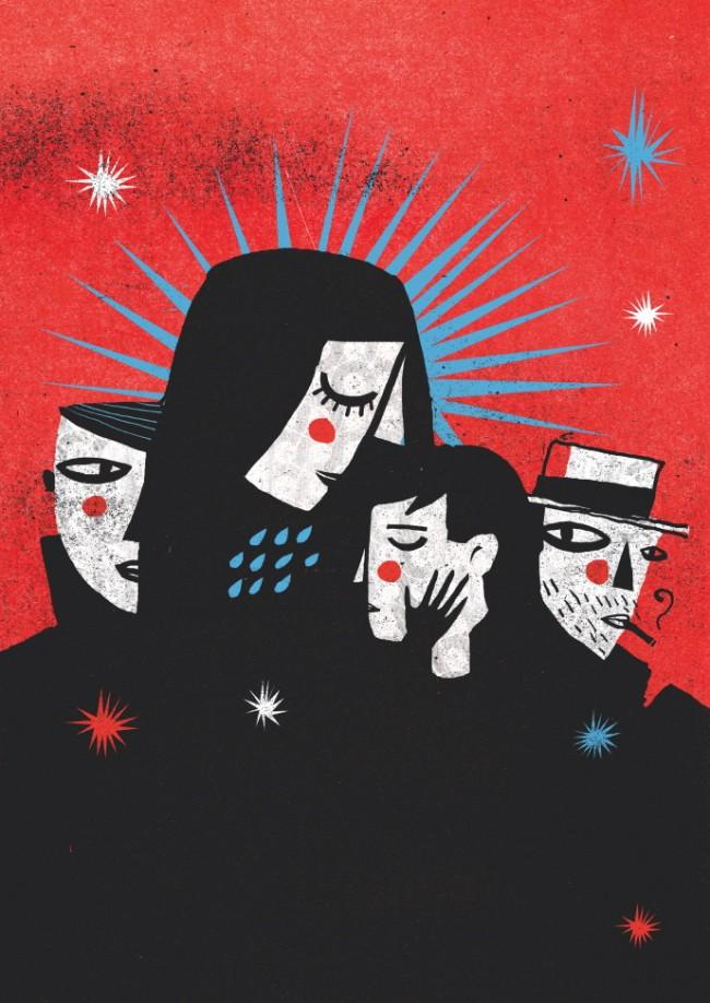 Cristóbal Schmal illustrierte 2009 einen literarischen Text von Patrick Findeis
