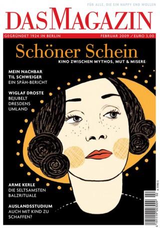 Coverillustration von Judith Drews, die in »Das Magazin« auch illustrierte Bilderrätsel veröffentlicht