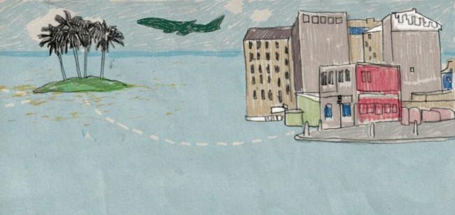 Illustrationen von Kathrin Frank erscheinen abwechselnd jeden Monat zu den Kolumnen »Land« und »Welt«