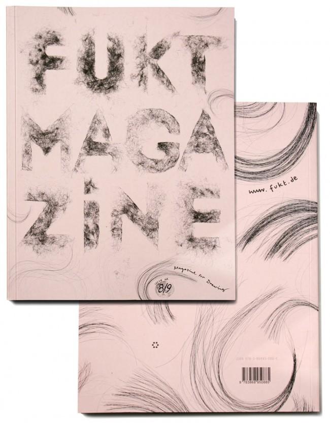 Fukt Magazin  #8/9 | Fukt - Magazin für zeitgenössische Zeichnung. Das Design und das Format der jährlichen Publikation ändert sich mit jeder Ausgabe. Kunde: Fukt Magazine / Björn Hegardt. Jahr: 2010