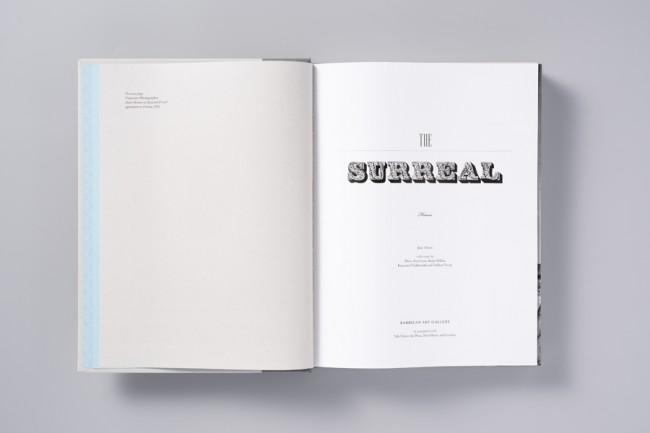 Katalog für die große Surrealismus Schau The Surreal House von Angus Hyland von Pentagram   © Pentagram